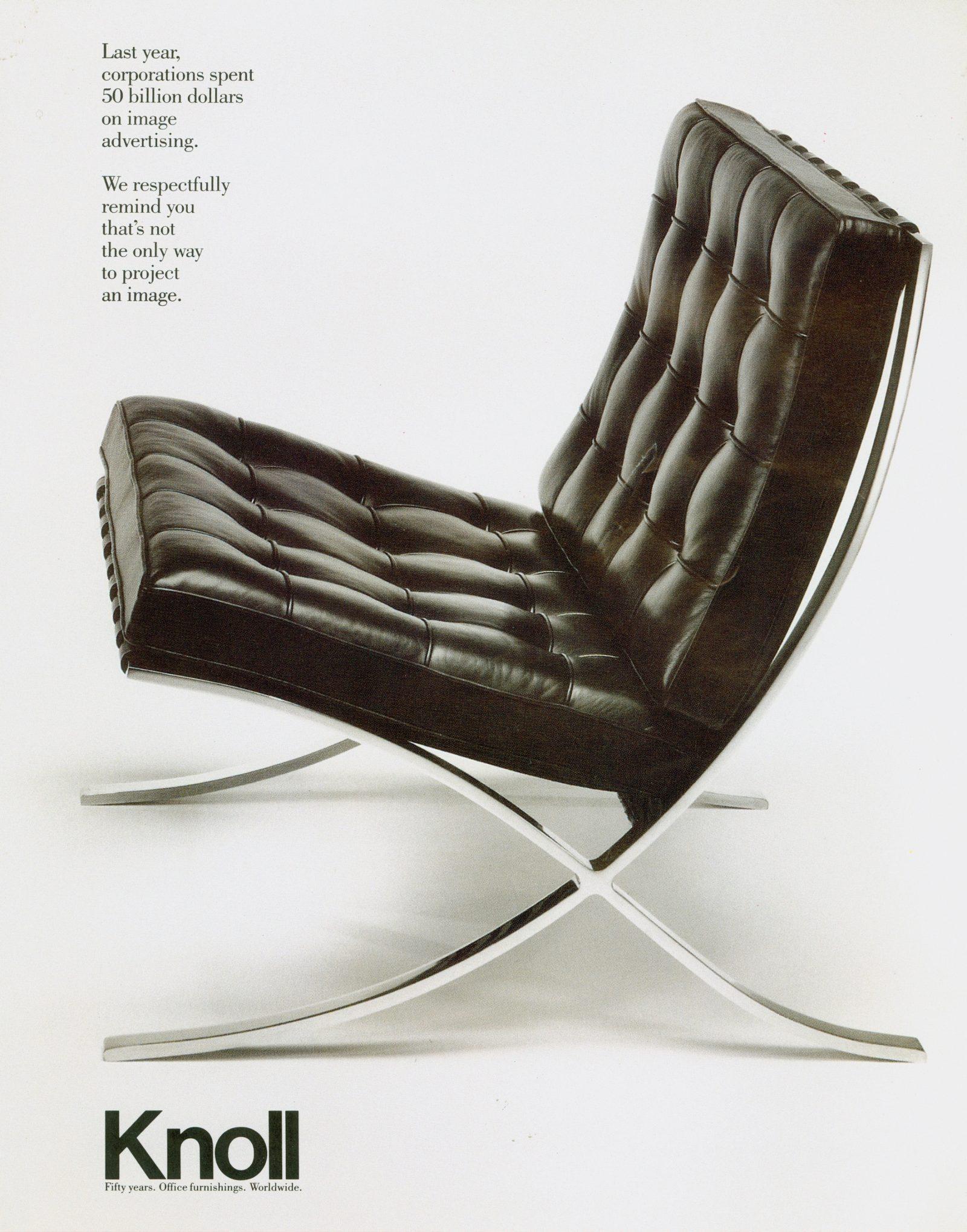 19 Knoll Barcelona Chair ad 1988